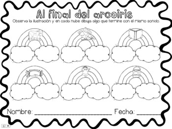 Al Final Del Arcoiris {Ending Sounds in Spanish} by