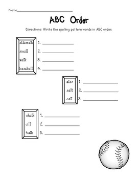 Al and All say aw/short O Worksheets (Bossy L) by