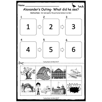 Alexander's Outing Worksheets by Teaching Bright Little