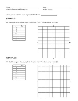 Algebra 2: Exponents and Exponential Functions by Andrew