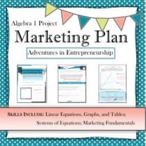 Algebra I project: Marketing Plan (system of linear equations)