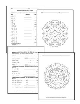 Algebra II Color by Number Mega Bundle: 30 Activities for