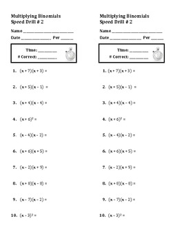 Algebra: Multiplying Binomials and Factoring Trinomials