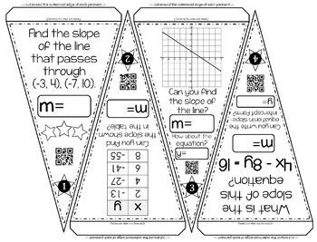 Algebra Pennants mini bundle by Scaffolded Math and