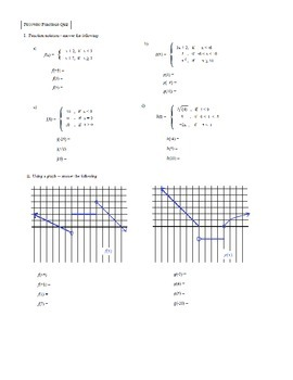 Algebra Piecewise functions exercise (and solutions) by