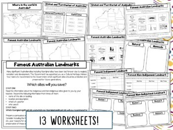 All About Australia Geography and Landmarks Printable