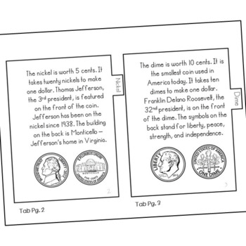All About Coins Mini Book, Interactive Notebook Flip Book