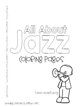 All About Jazz! Coloring Pages (Musicians) by Counting