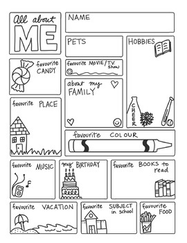 All About ME FREEBIE by Science Doodles by Science and