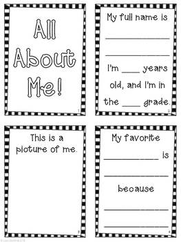 All About Me Accordion Fold Mini-Book ~ Freebie! by Lisa