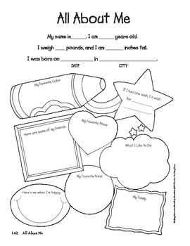 All About Me Activity by Creative Teaching Press