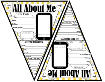All About Me Banner (Polka-Dot Theme) First Day of School