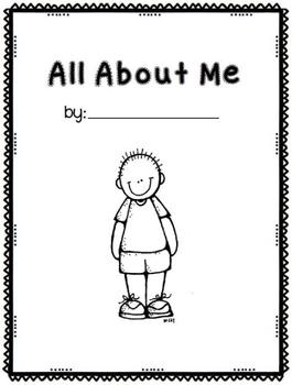 All About Me Book- boy and girl cover page versions by