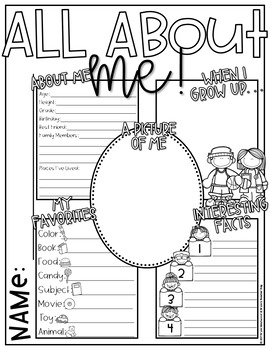All About Me!-Get to Know You Games & Activities to use