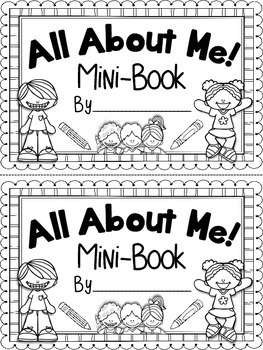 All About Me! Mini Book {Beginning of the Year} {End of