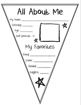 All About Me Pennant by Creative Curriculum for