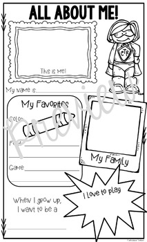 All About Me Back to School Posters: Super Hero Theme by