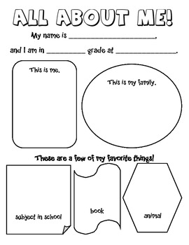 All About Me Survey for Elementary Students by This Little