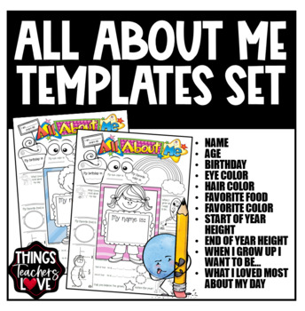 all about me templates
