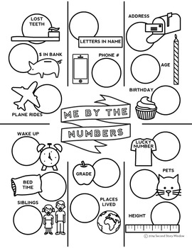 All About Me and Me By the Numbers Posters • First Day of