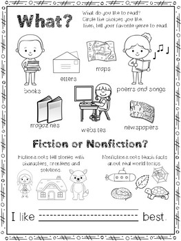 All About Me as a Reader A Back To School Reading