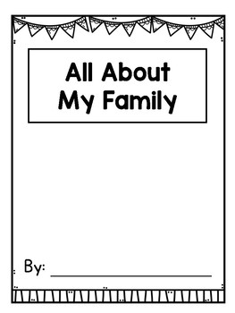 All About My Family Writing Book Template for K-2 {FREE