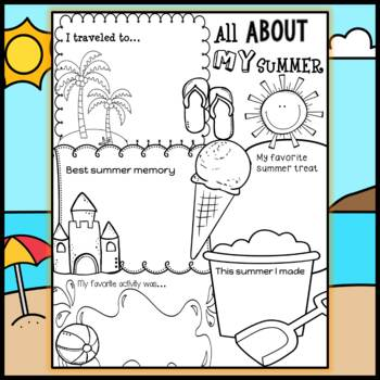 All About My Summer : Back to School Ice breaker by Little