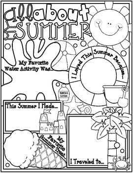 All About My Summer Poster: A Back to School Ice Breaker