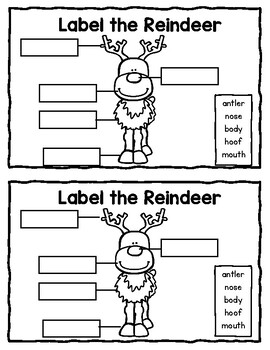 All About Reindeer--Writing Activity and Craft for K-2 by