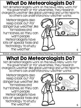 All About Weather NGSS mini-book by Teaching's a Hoot by
