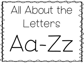All About the Letters Aa-Zz No Prep Tracing Phonics