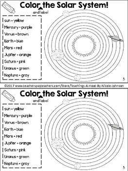 All About the Solar System mini-book by Teaching's a Hoot