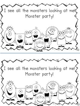 Monsters and Colors Rhyming Emergent Reader Book