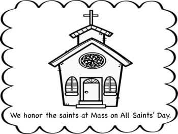 All Saints' Day Mini Book/Coloring Page/Prayer Pages by