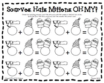 All Things Winter {Math Common Core Centers} by Jamie