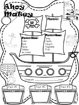 All about Me Pirate Theme Back to School by Ashley Johnson