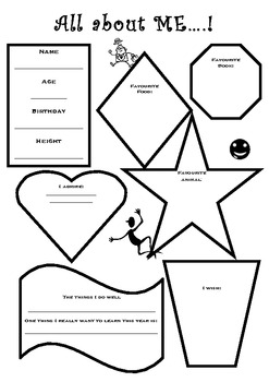 All about me worksheet or mobile craft by For the love of