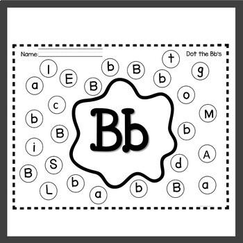 Alphabet Worksheets Dauber Activities by Teaching