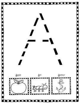 Alphabet Activities: Large Letter Tracing Practice For