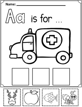 Alphabet: Beginning Sound Cut and Paste Fun by Bilingual