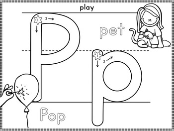 Alphabet Play Dough Mats: Correct Formation and Beginning