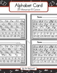 Alphabet cards zaner bloser manuscript and cursive also print teaching resources teachers pay rh teacherspayteachers