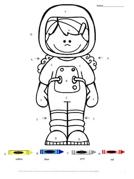 Color by Letter,Space Theme Worksheets,Letter Recognition
