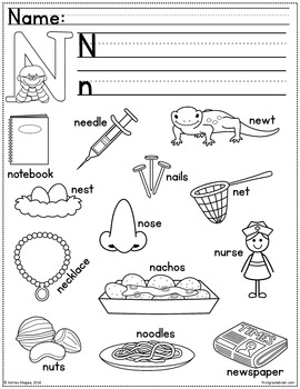 Alphabet Coloring Book with Handwriting and Sentence