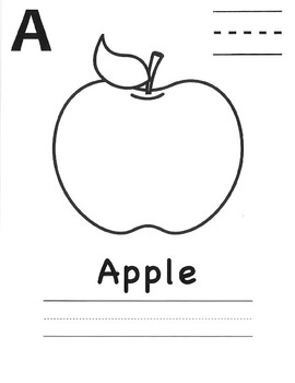 Alphabet, Coloring, Spelling and Vocabulary Practice