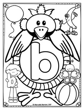 Alphabet Letter Identification and Recognition coloring