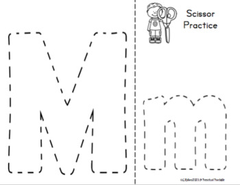 Alphabet Cutting Practice Upper and Lowercase
