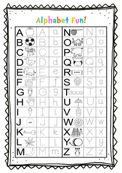 Alphabet Fun! (upper and lower case tracing, phonics