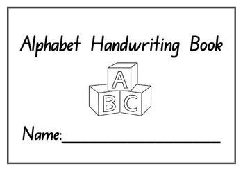 Kindergarten Alphabet Handwriting Practice Booklet