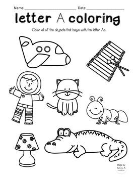 Alphabet Letter Search Coloring Sheets, No-Prep! by NOLA